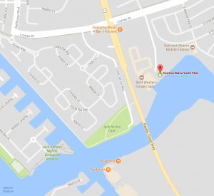 Map to Cerritos Bahia Yacht Club
